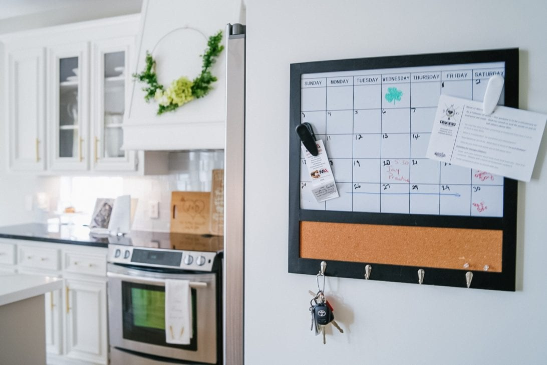 magnetic calendar, key holder
