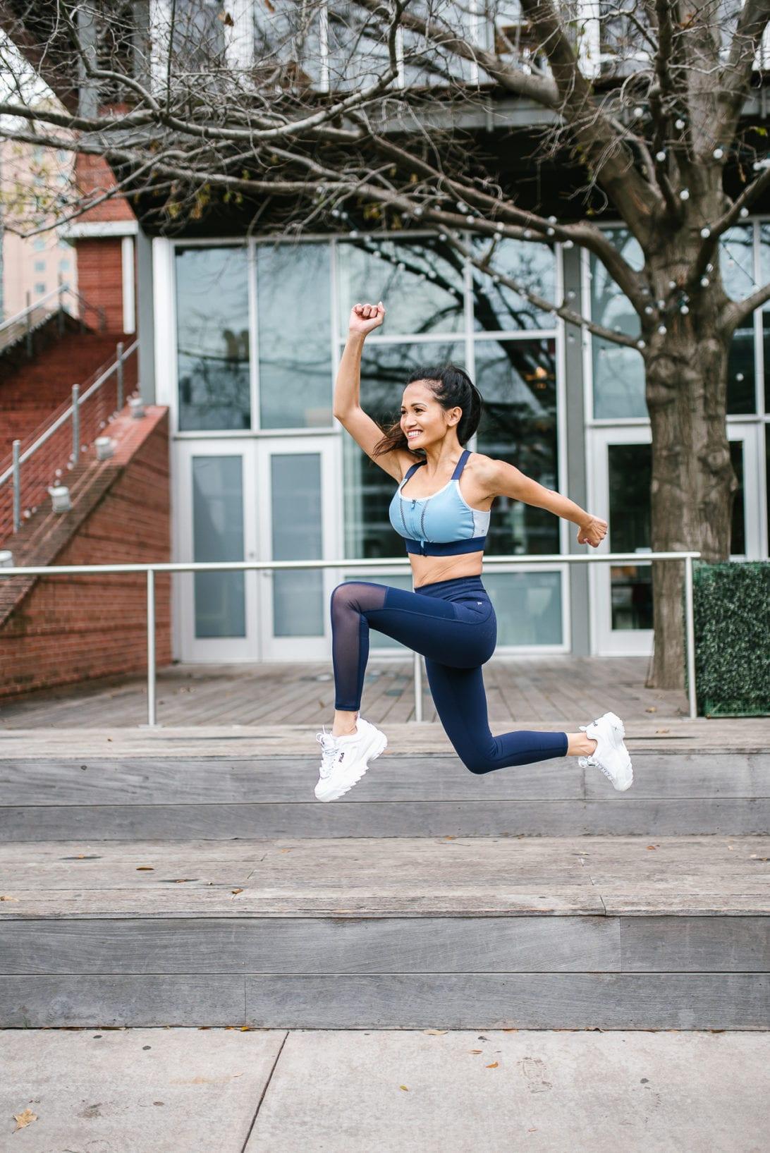 jumping shot, action shot, fitness motivation