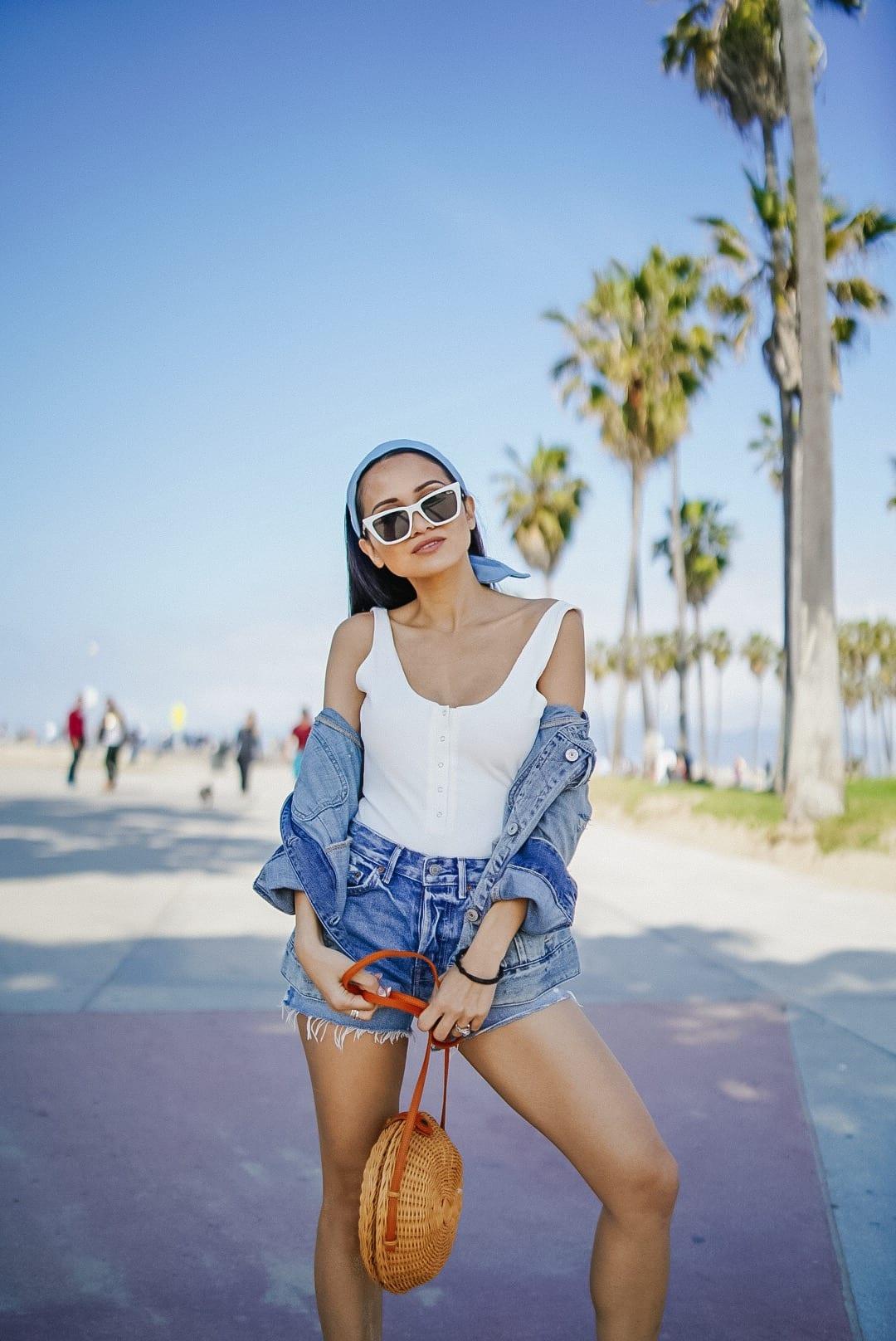 revolve festival, Quay sunglasses, GRlfrnd denim