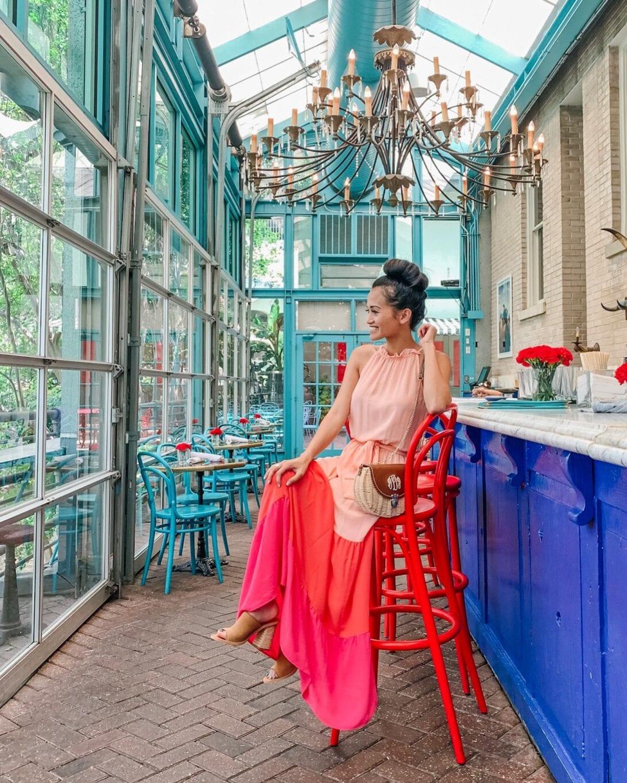 OCHO San Antonio, MEXICAN RESTAURANT, COLOR BLOCK DRESS