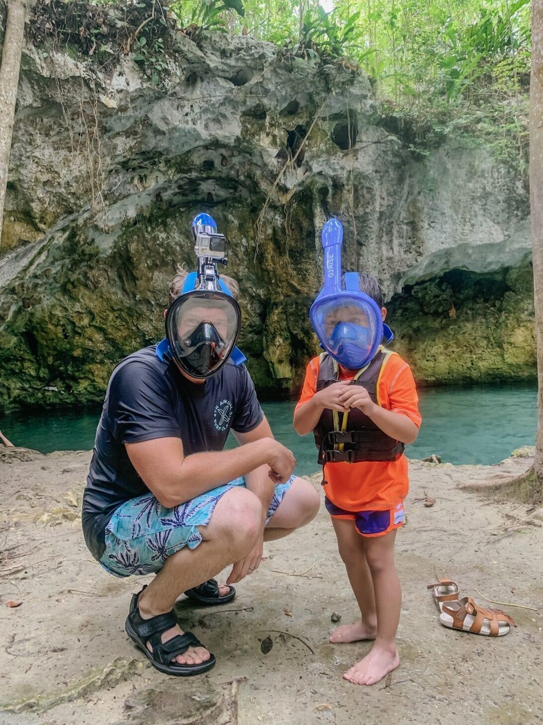 kid snorkles, family snorkel, Cenote snorkeling, Tulum snorkeling