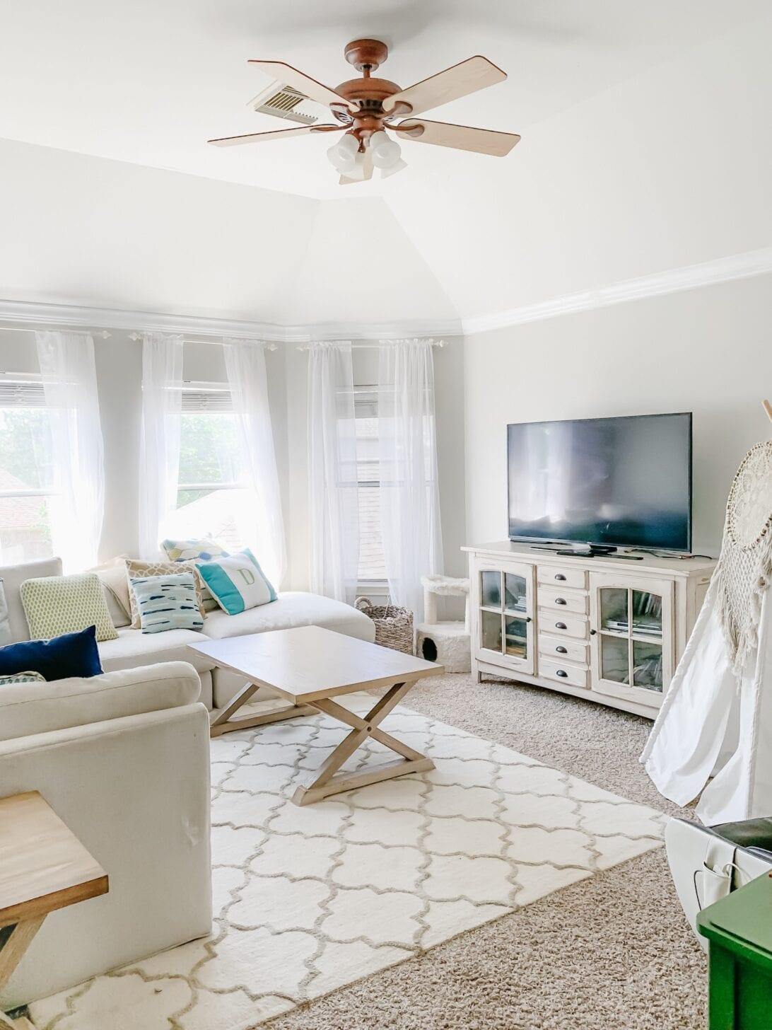 gameroom, TV room, family room. coastal style