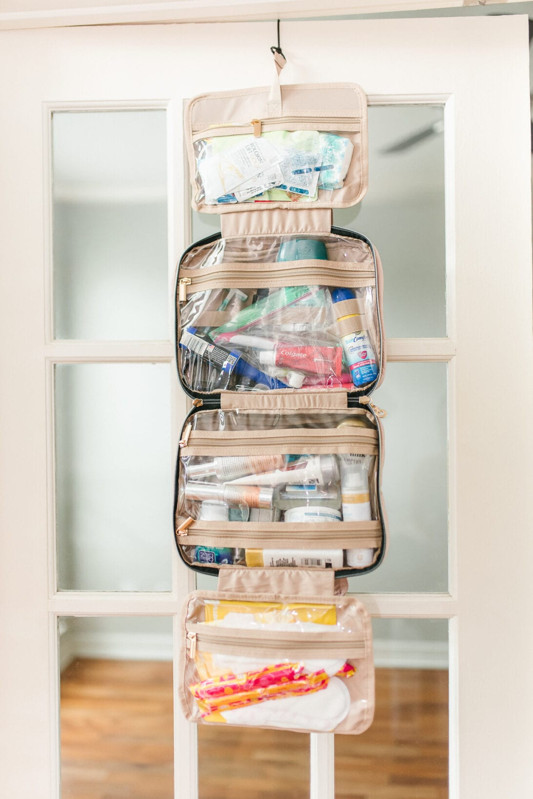 hanging toiletry bag, travel essentials, travel Europe