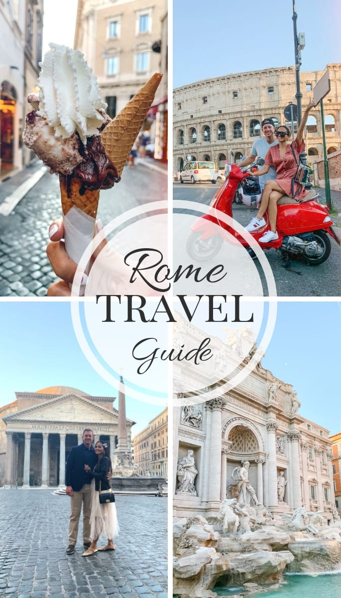 travel guide, Rome, Italy, Couples travel guide, Colosseum, Pantheon, Trevi Fountain, Gelato, Red Vespa