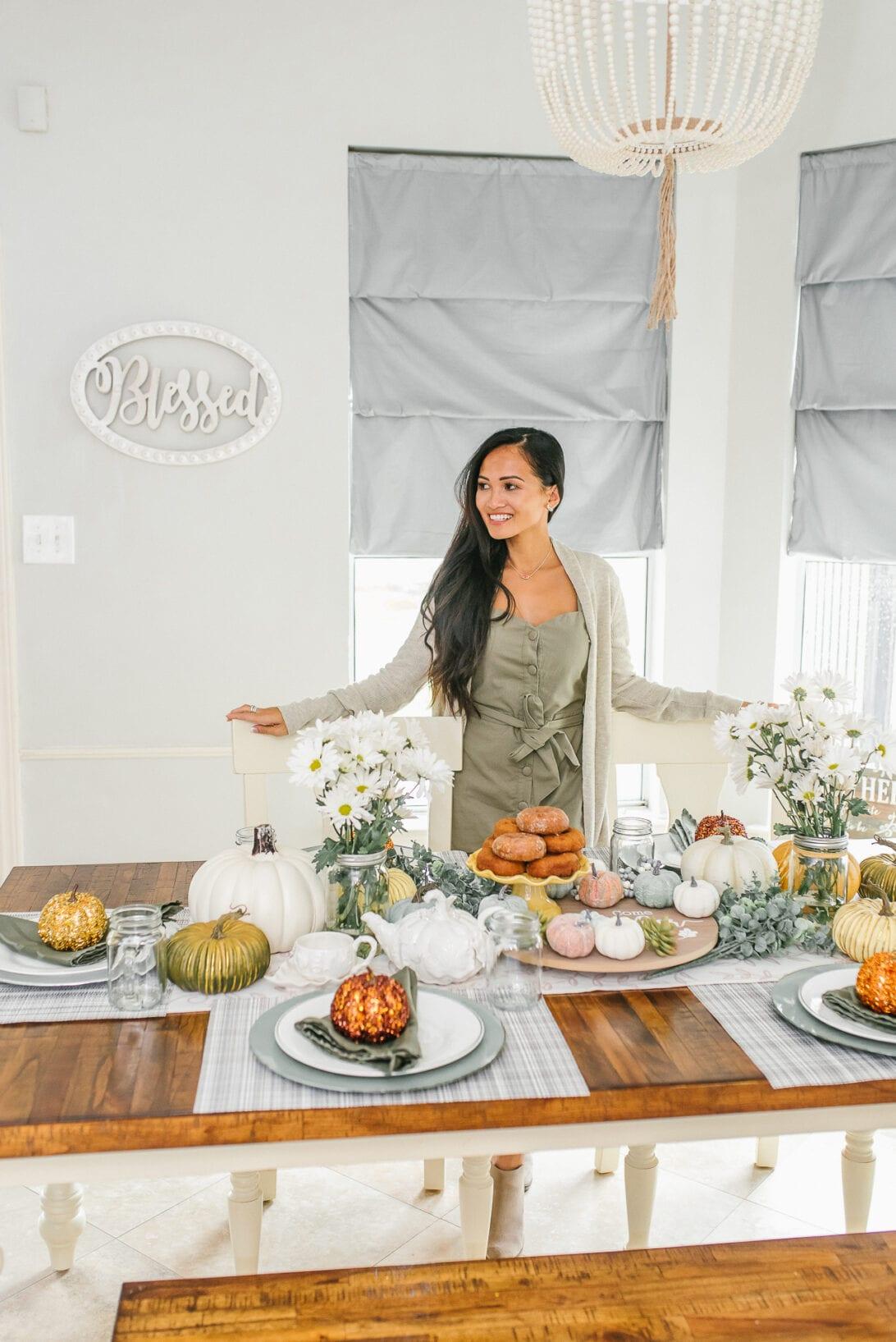 Houston Mom blogger, Houston fashion blogger, Thanksgiving, Thanksgiving table