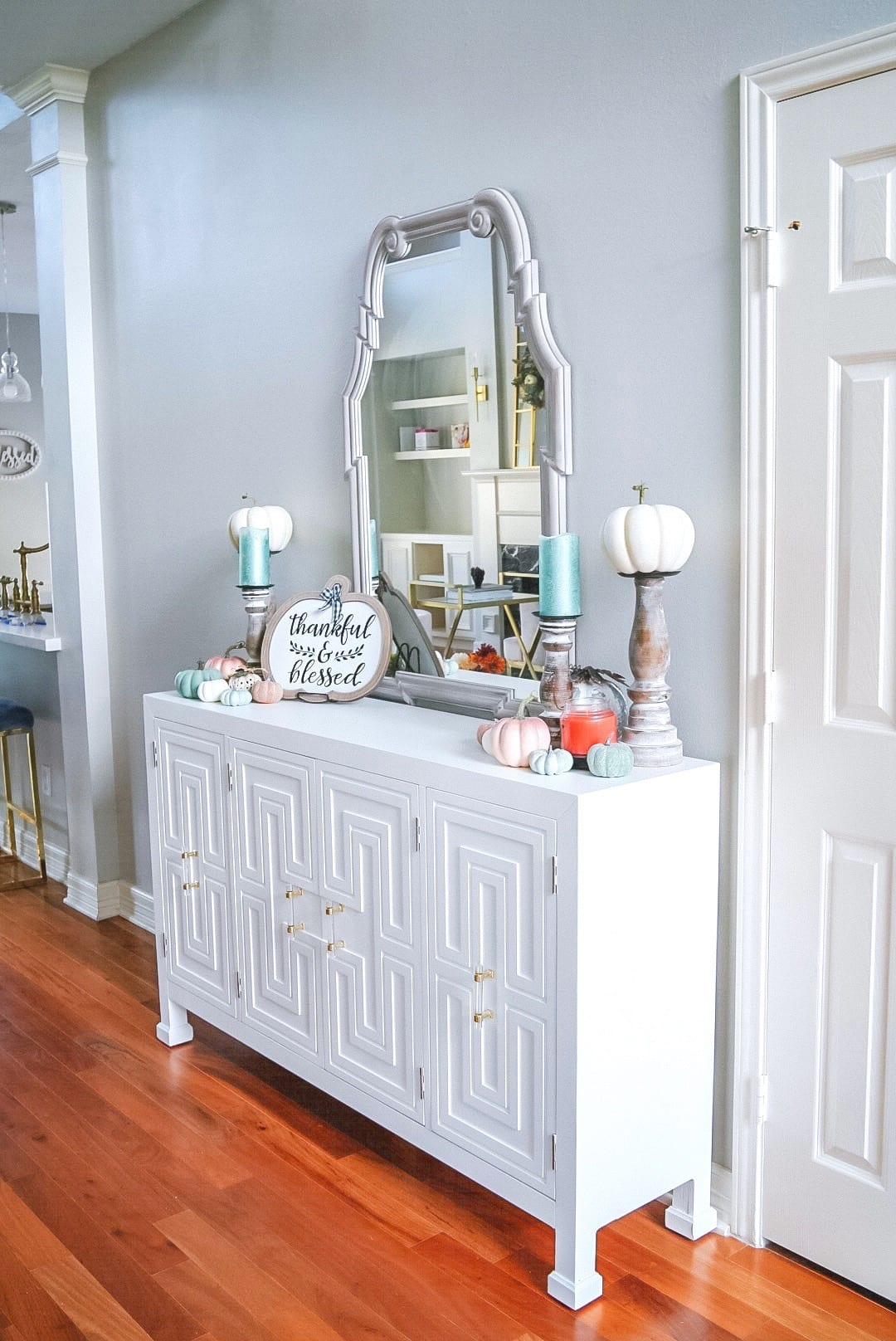 white entry console, entry table, entry furniture, Wayfair,