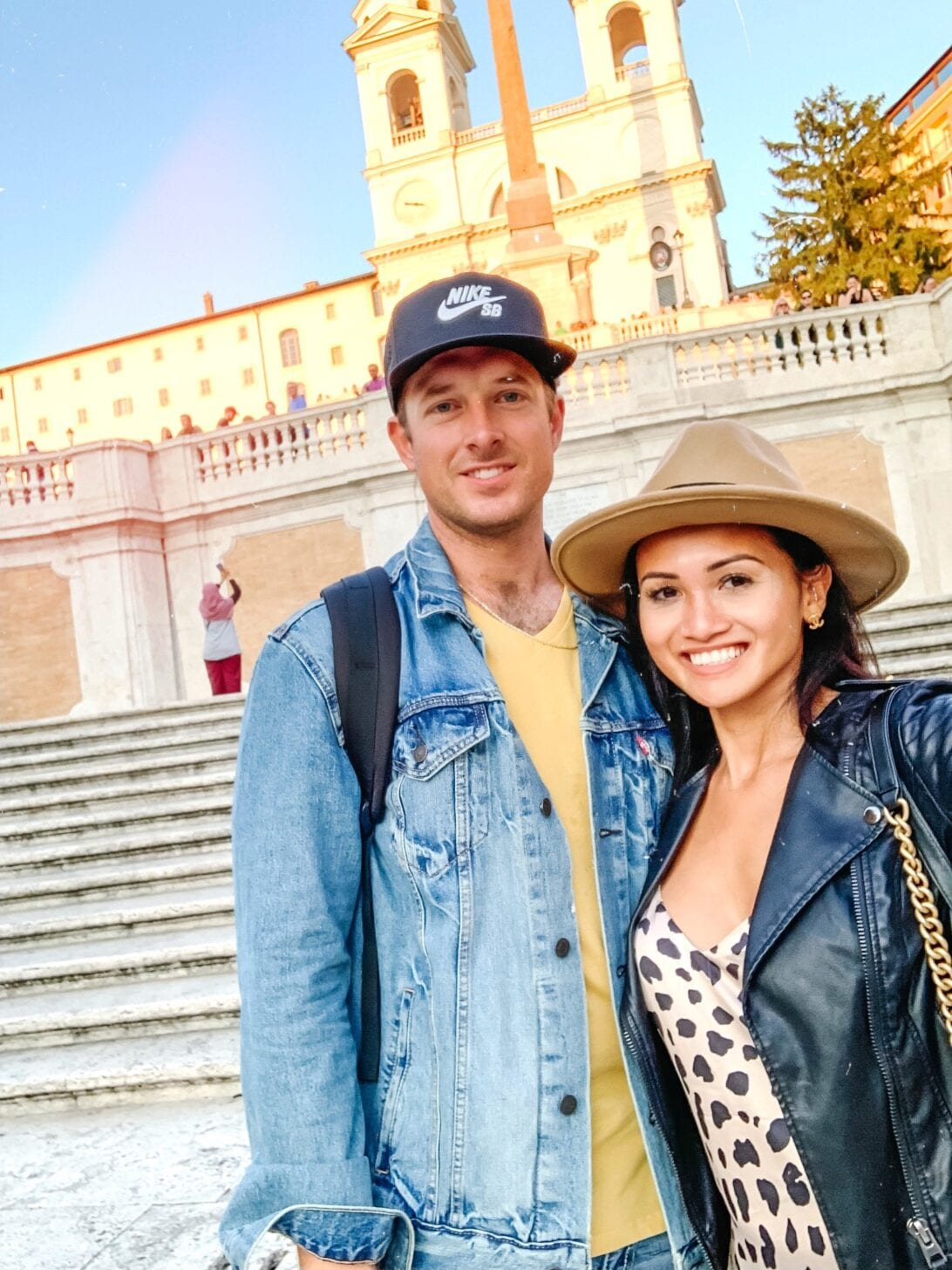 Spanish steps, couple's travel guide