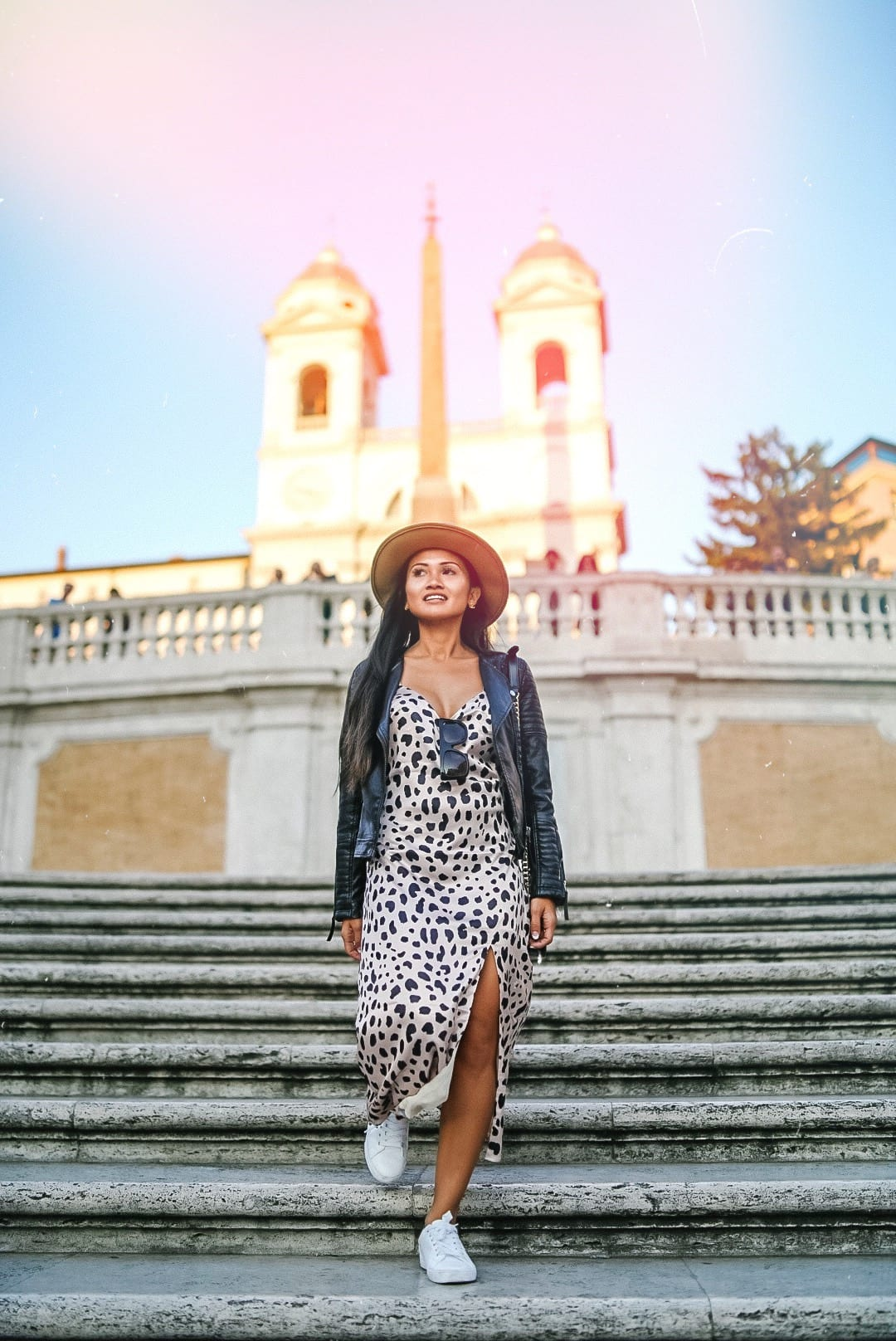 Spanish steps at sunset