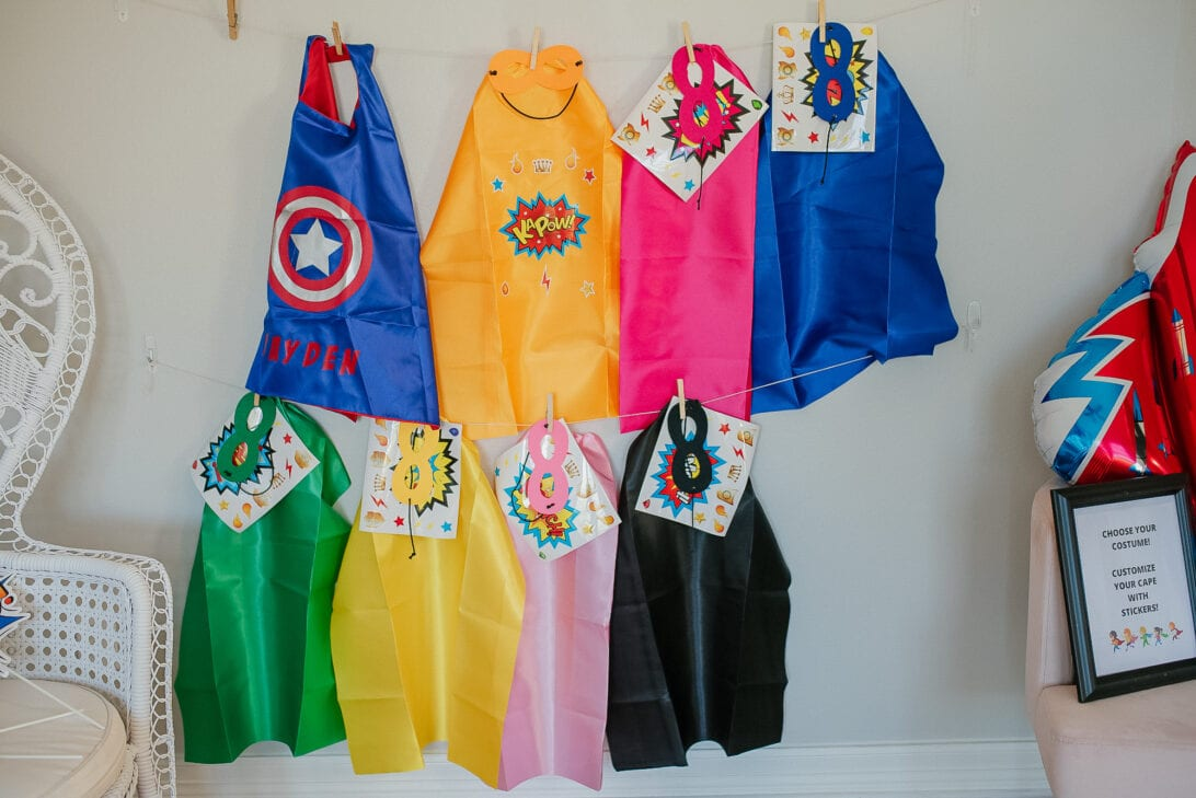 SUPERHERO CAPES AND MASK