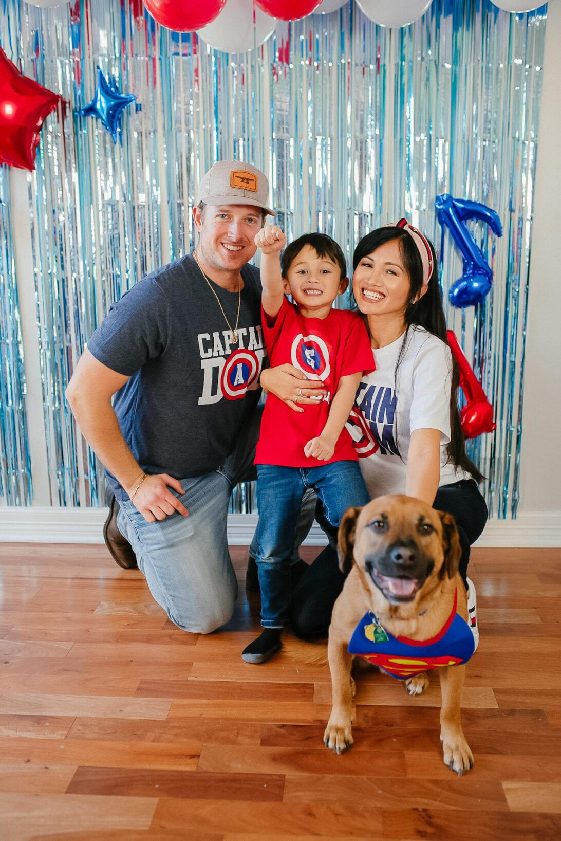 Captain America custom family shirts