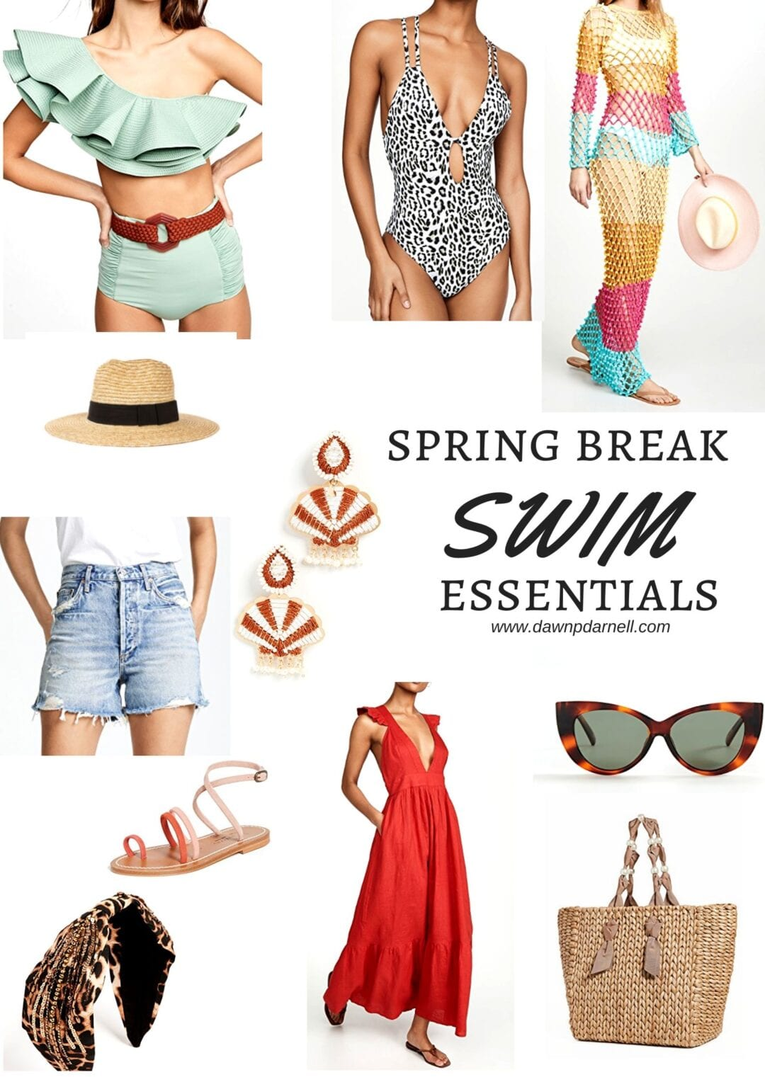 Shopbop, spring sale, spring break, swimsuit, swim essentials, beach bag, cat eye sunglasses, cut off shorts