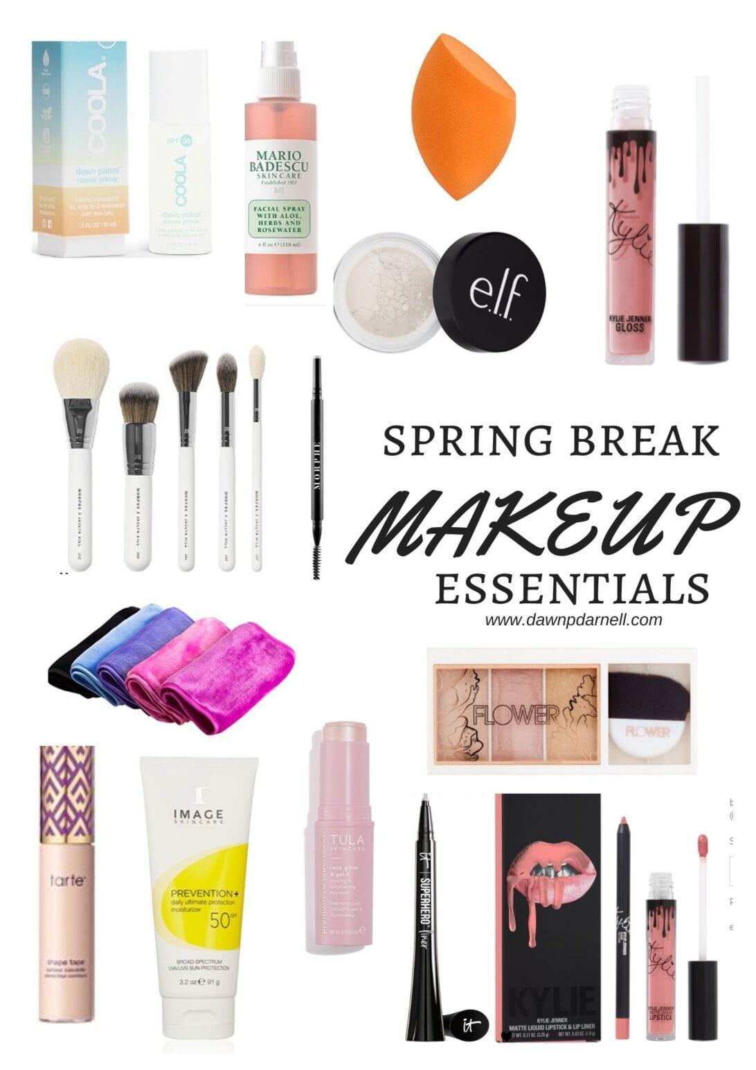 makeup essentials, everyday essentials, Kylie ip kit, tart shape tape, flower beauty, elf beauty, elf cosmetics