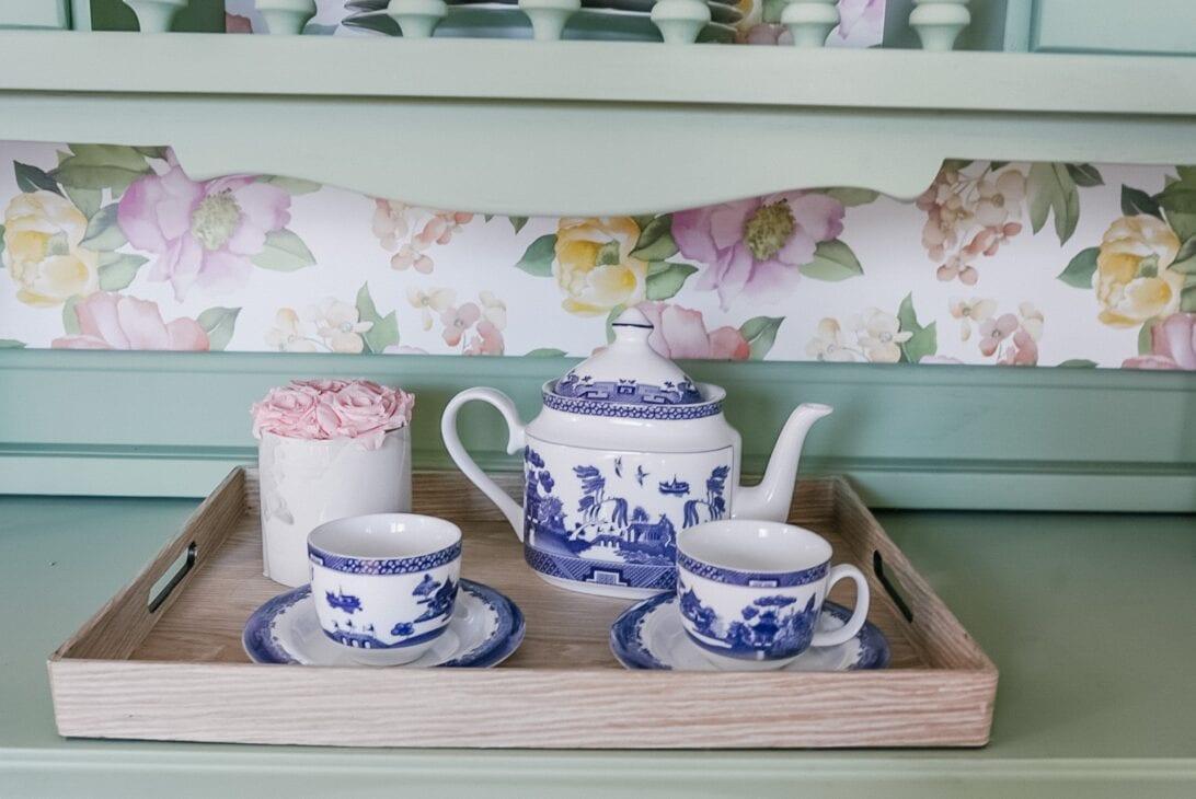 tea set, blue china, china tea set, antique tea set, china tea set