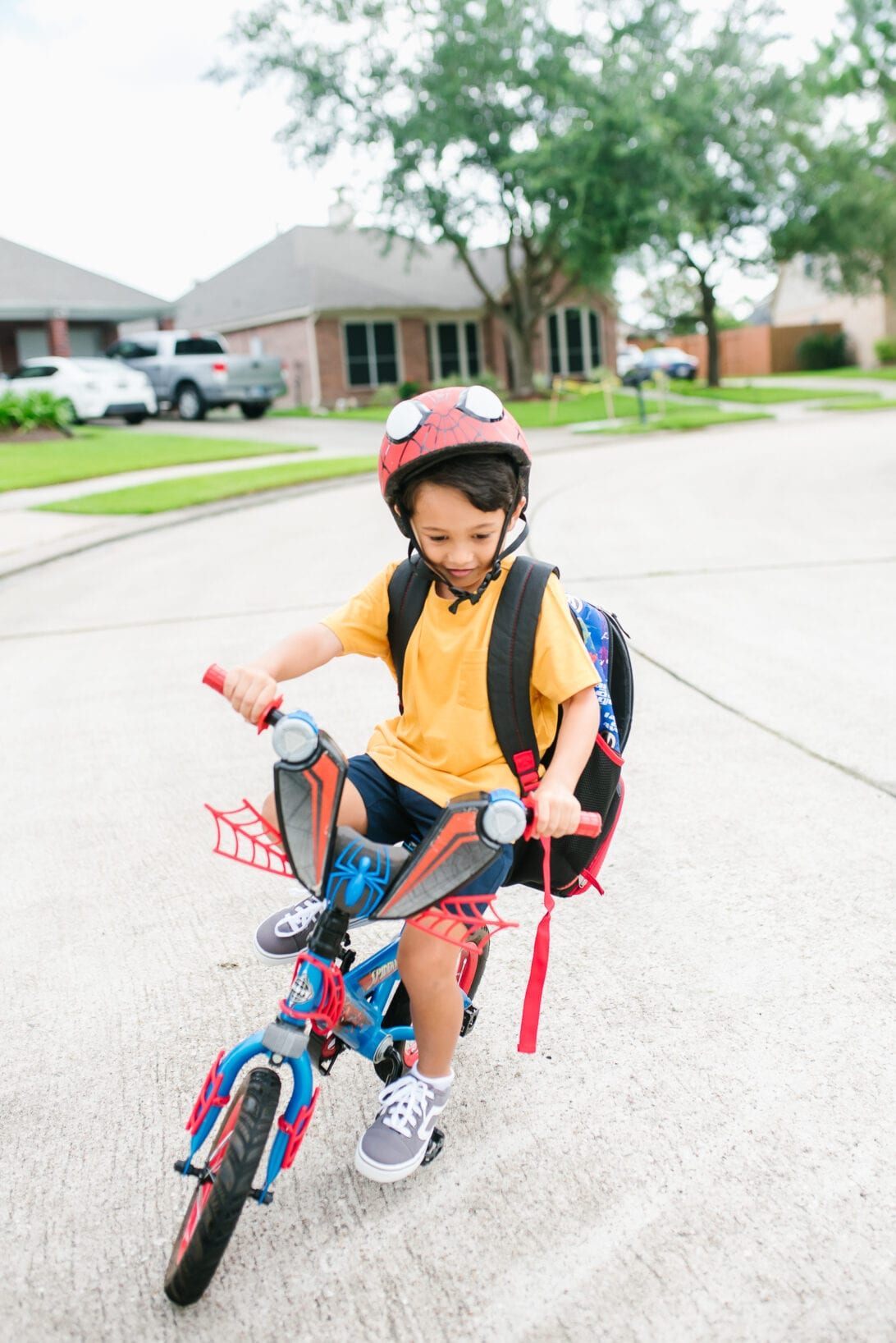 back to school, spider man bike, kids bike