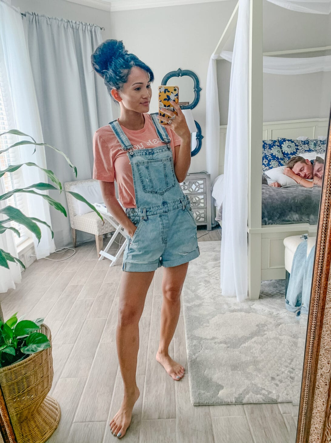 denim shortalls