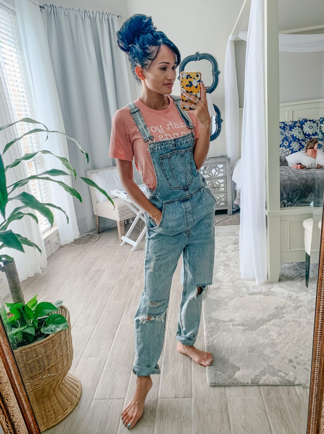 denim overalls, boyfriend denim overalls