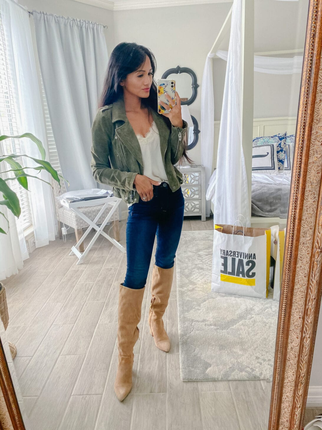 vince Camuto boots, BLANK NYC suede jacket