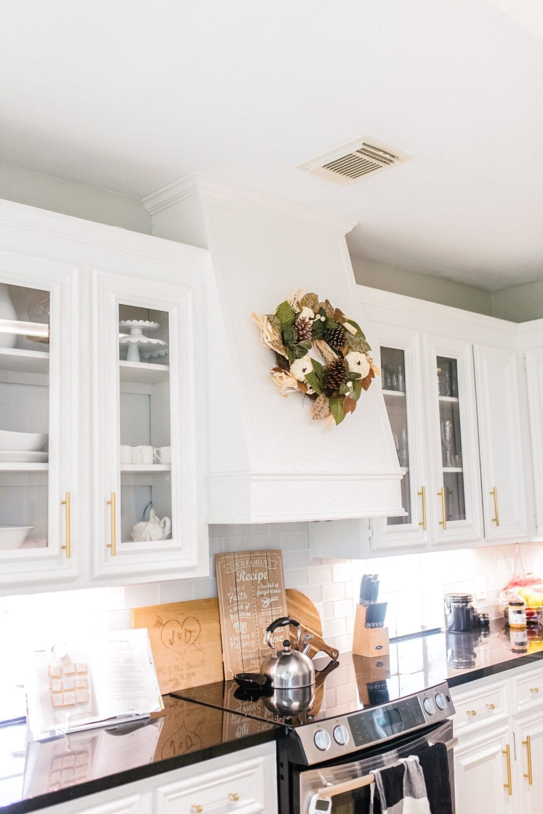 kitchen fall wreath