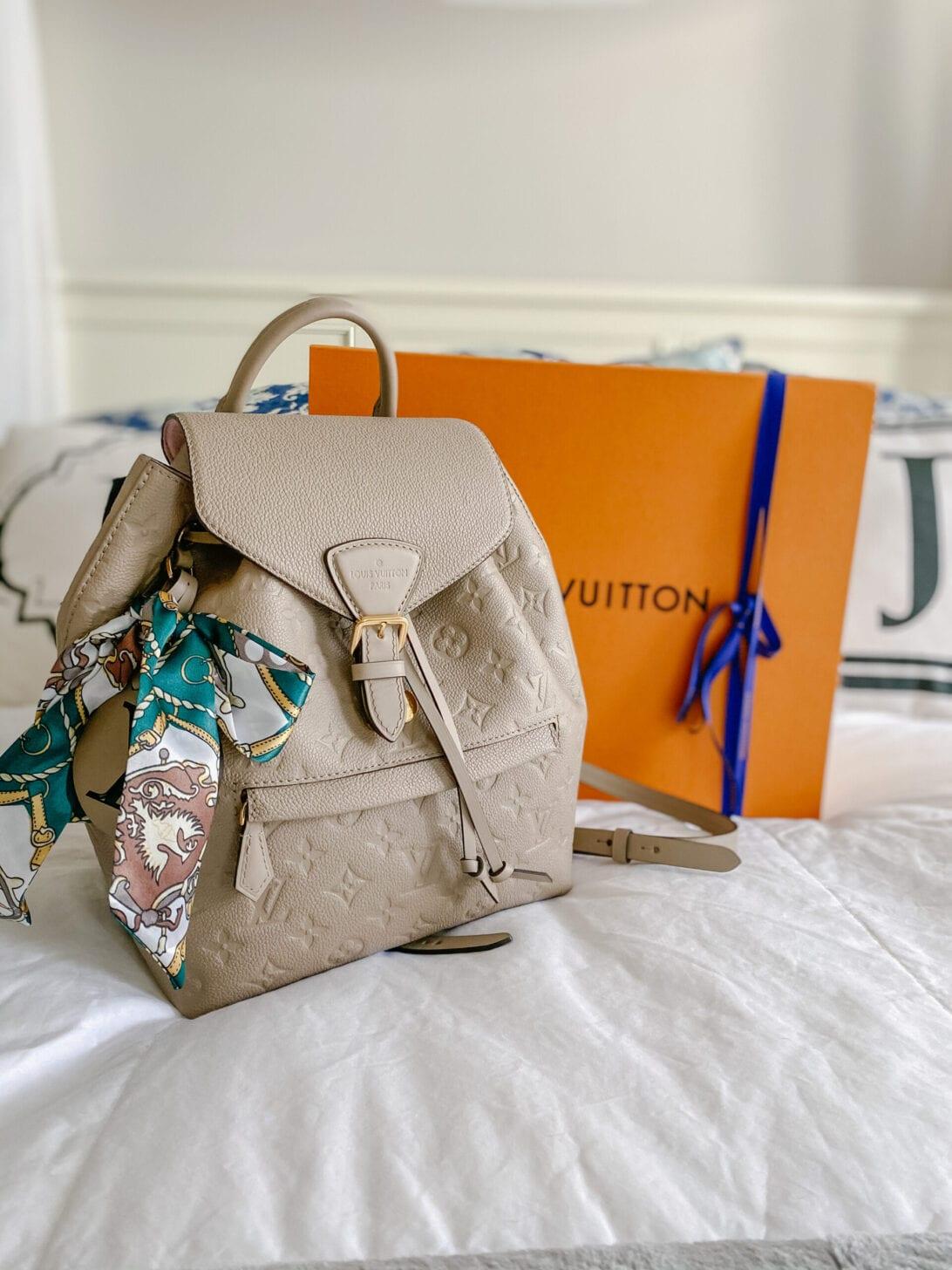Louis Vuitton Montsouris Backpac, Monogram Empreinte Leather, LV bag, Louis Vuitton bag