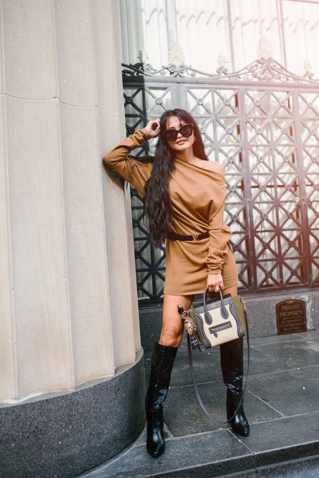 Celine Luggage Nano, two toned Celine luggage bag, Celine bag, black crocodile boots