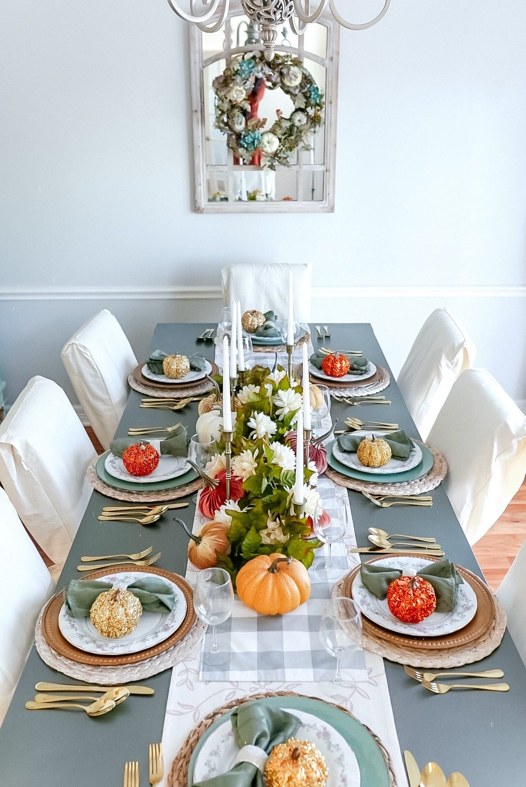 2020 Thanksgiving tablescape, Thanksgiving table setting
