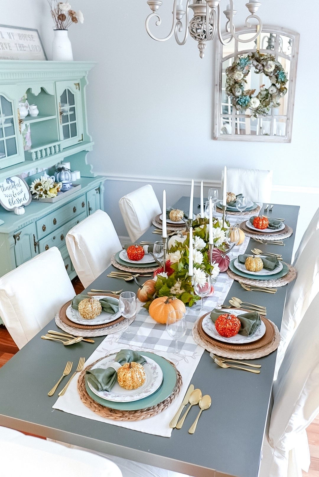 Thanksgiving table setting, 2020 Thanksgiving tablescape