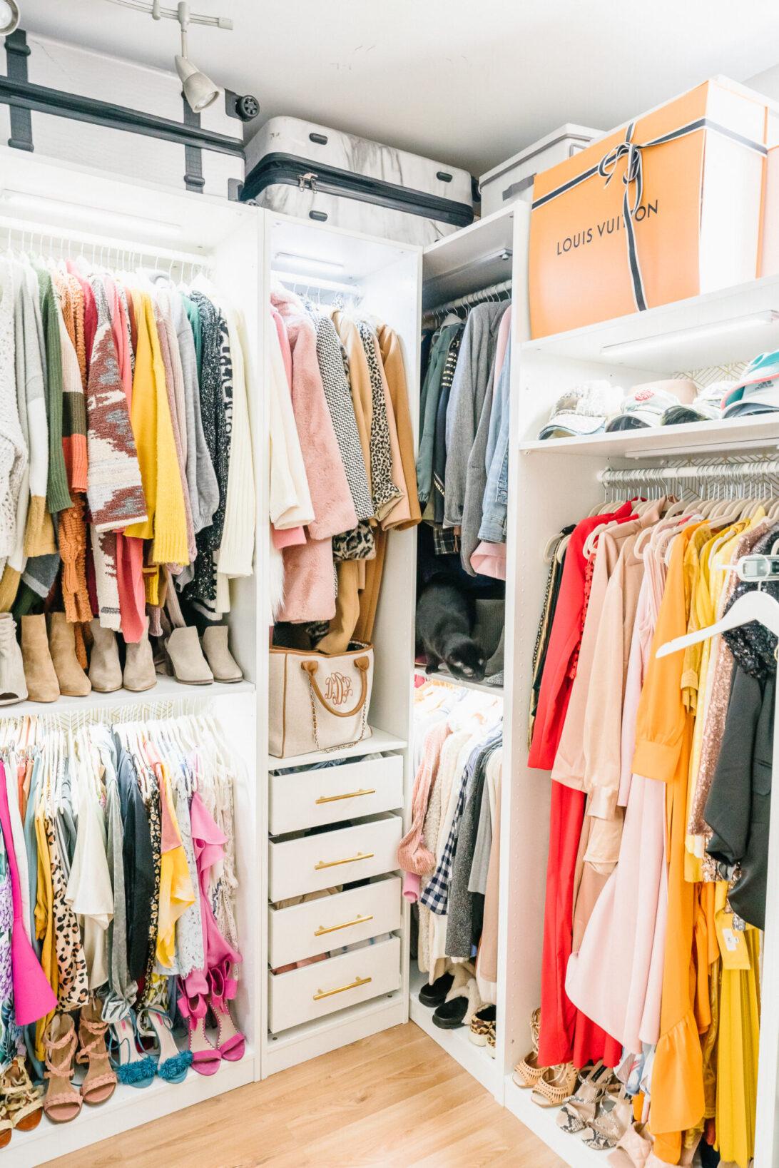 Master closet storage, luggage storage, Louis Vuitton boxes