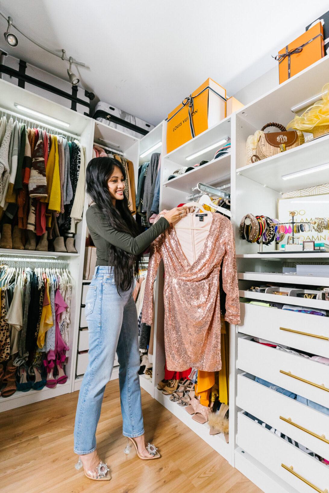Master closet renovation, master closet storage