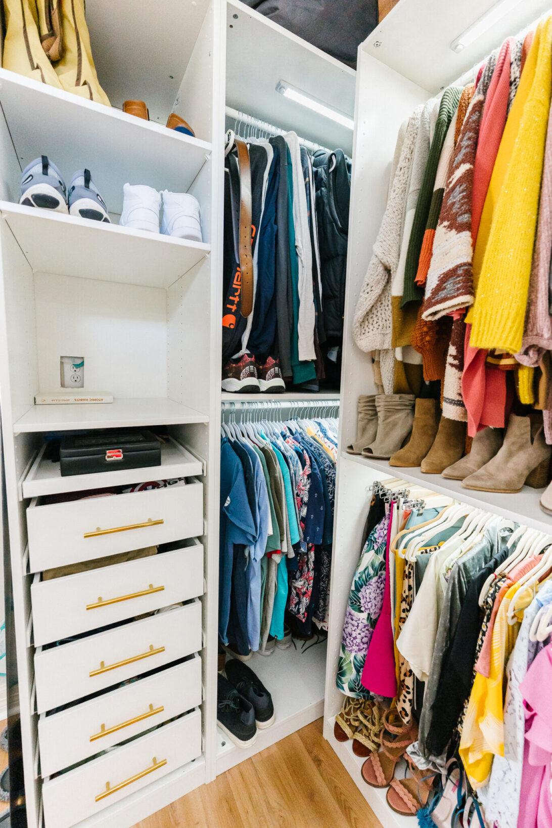 master closet men's side organization